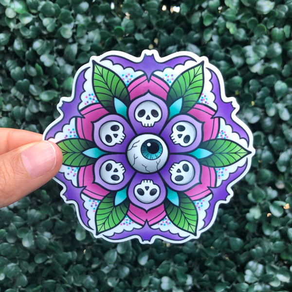 Spoopy Geo-Flower - Sticker