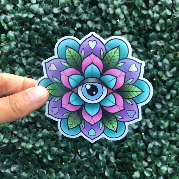 Eye Geo-Flower - Holographic Sticker