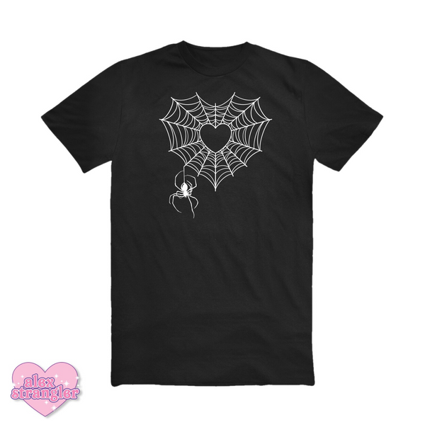Spiderweb Heart - Unisex Tee