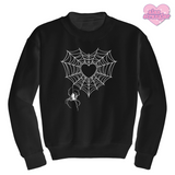 Spiderweb Heart - Unisex Crewneck Sweatshirt