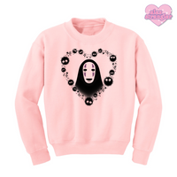 No Face Heart - Unisex Crewneck Sweatshirt