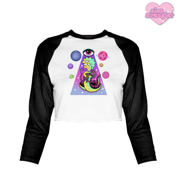 Open Your Third Eye - Women's Cropped Raglan