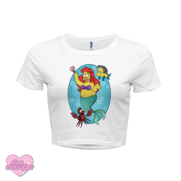 Homer Under The Sea - Women's Crop Top