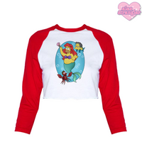 Homer Under The Sea - Women's Cropped Raglan