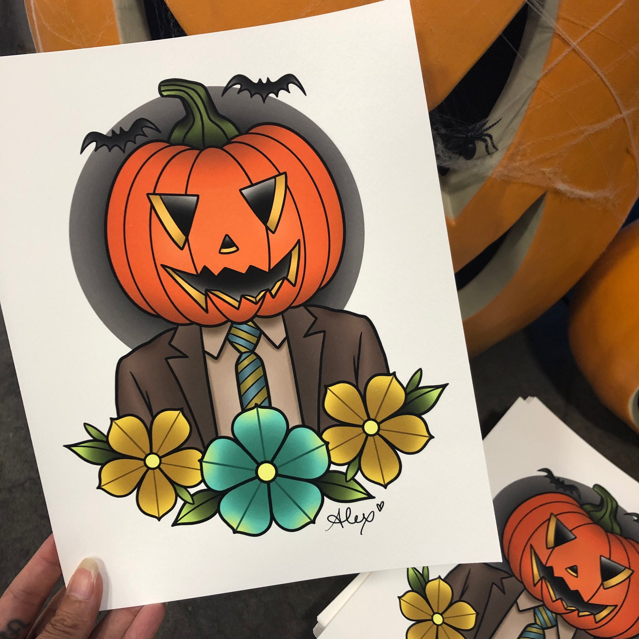 Pumpkin Dwight - Print