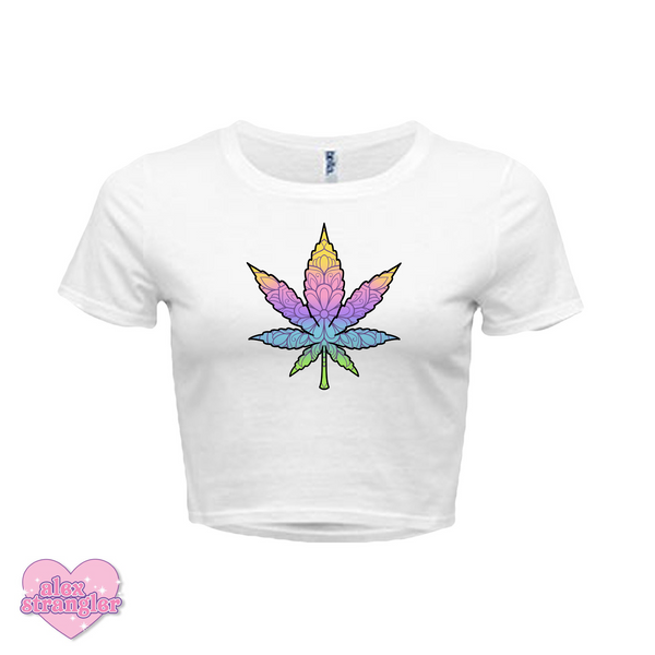 Geo-Flower Leaf  - Women's Crop Top