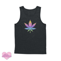 Geo-Flower Leaf  - Men's/Unisex Tank