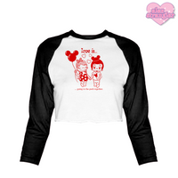 Love Is... - Women's Cropped Raglan