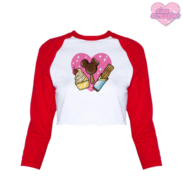 Park Treats - Women's Cropped Raglan