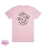 Mean Candy Hearts - Unisex Tee