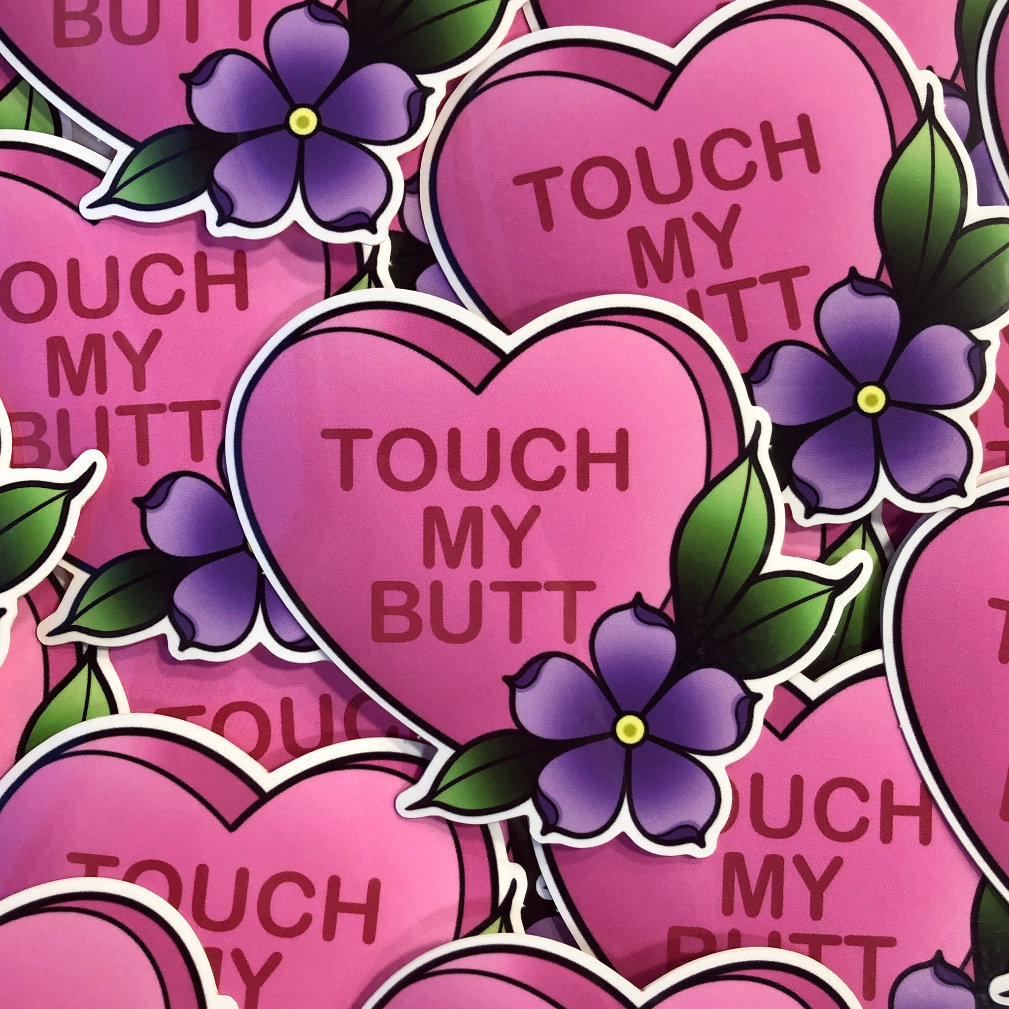 Touch My Butt - Sticker