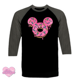 Mr. Donut Mouse - Unisex Raglan