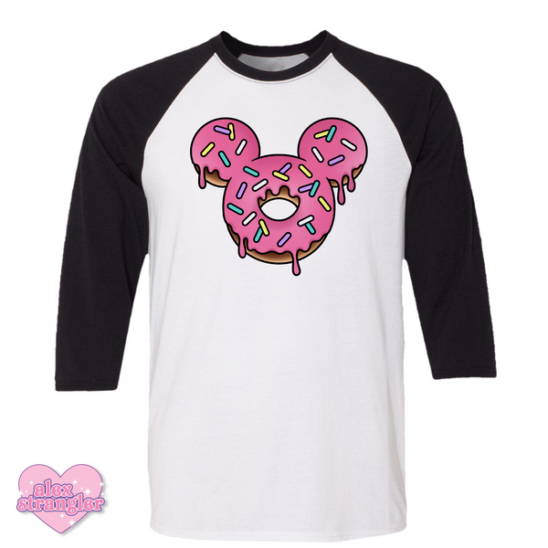 Mr. Donut Mouse - Men's/Unisex Raglan