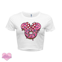 Mrs. Donut Mouse - Women's Crop Top
