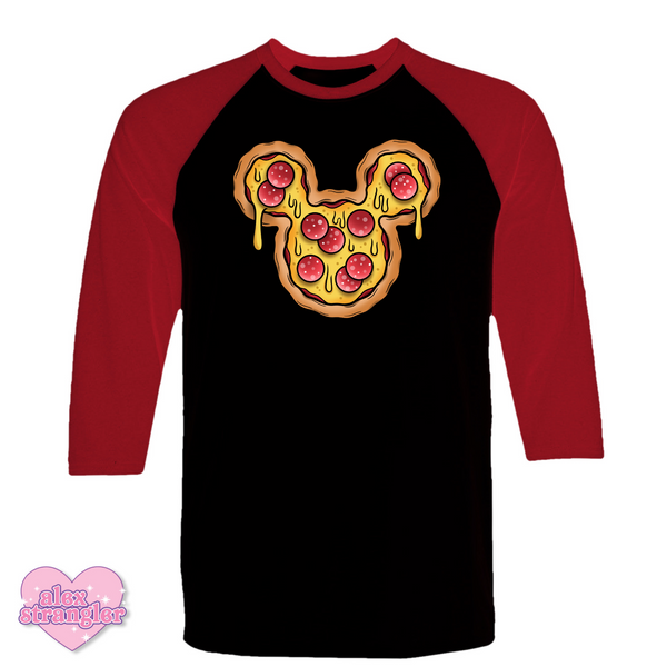 Mr. Pizza Mouse - Men's/Unisex Raglan