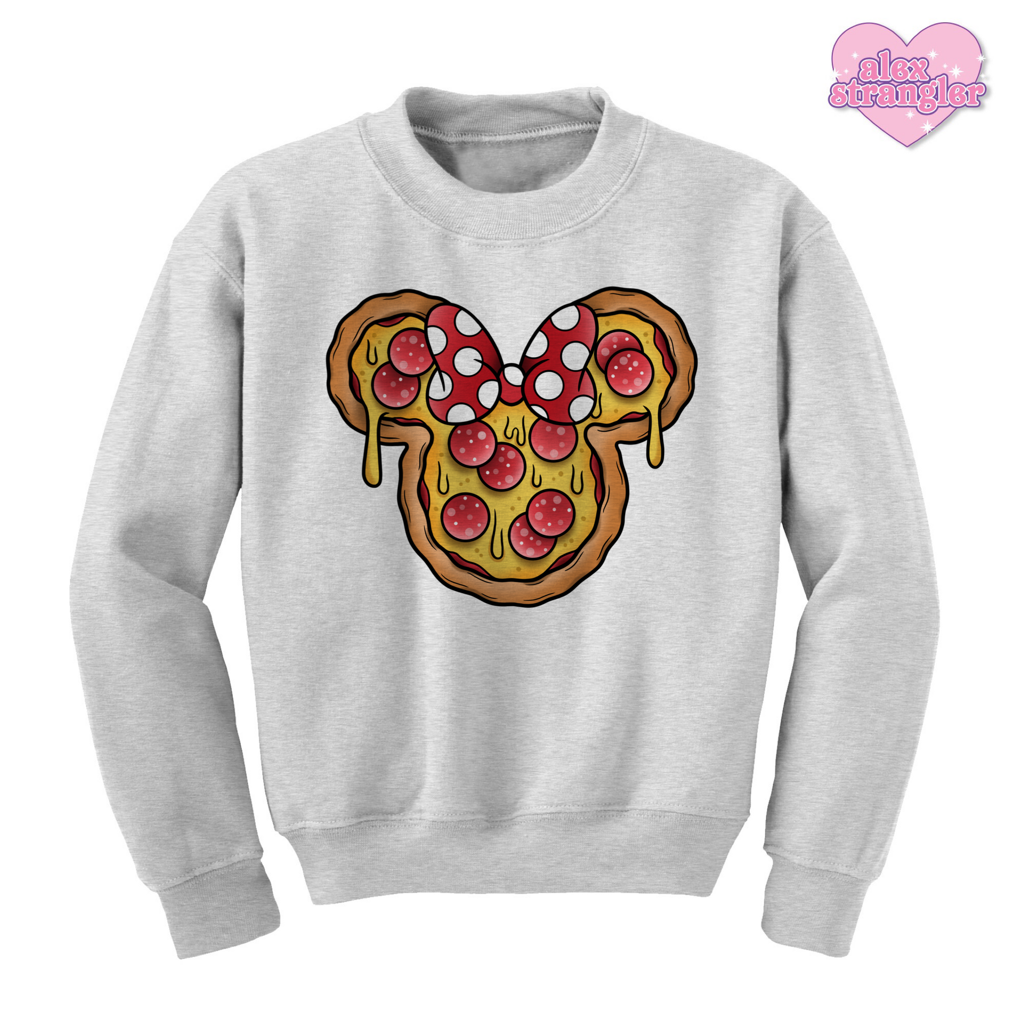 Mrs. Pizza Mouse - Unisex Crewneck Sweatshirt