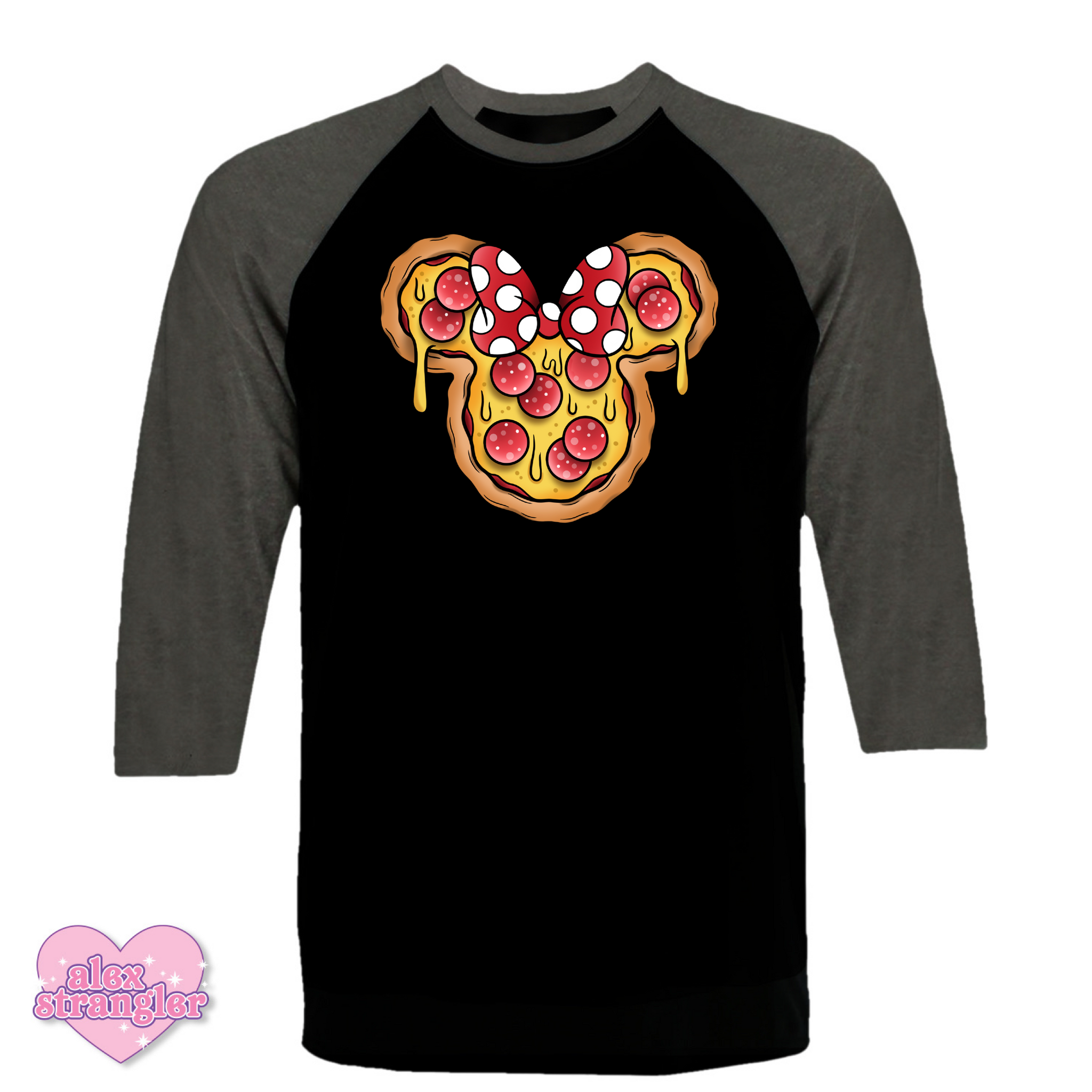 Mrs. Pizza Mouse - Men's/Unisex Raglan
