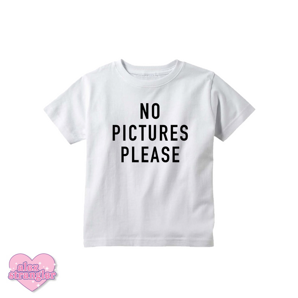 No Pictures Please - Kids Tee
