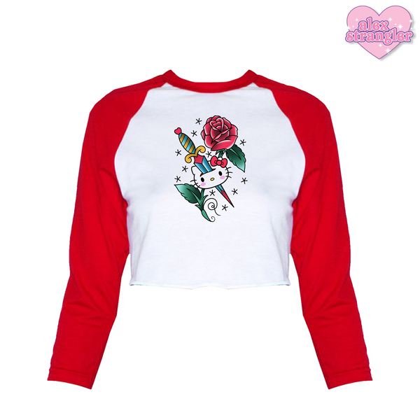 Kitty Rose - Women's Cropped Raglan
