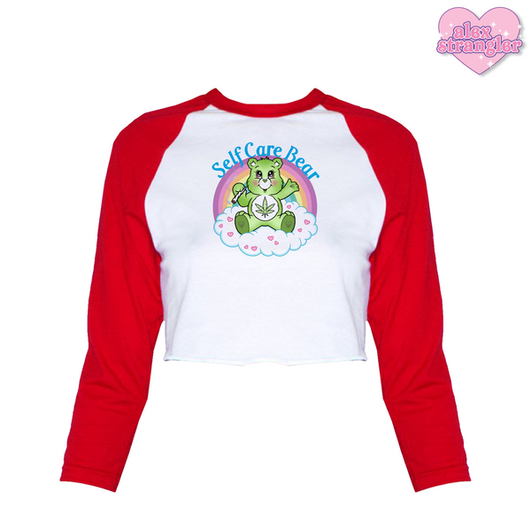 Self Care Bear - Women's Cropped Raglan