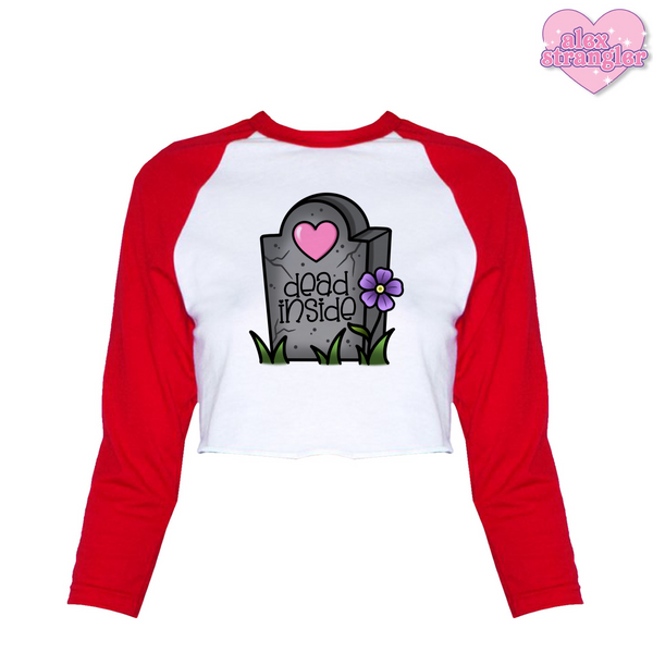 Dead Inside - Women's Cropped Raglan