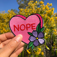 Nope Candy Heart - Patch