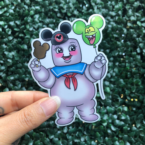 Marshmallow Goes To The Park - Sticker