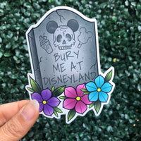 Bury Me At The Park - Sticker