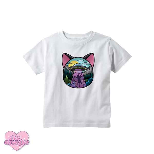 UFO Cat Abduction - Kids Tee