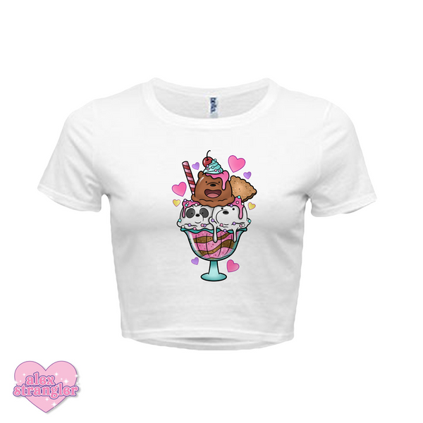 Bear Sundae - Women's Crop Top