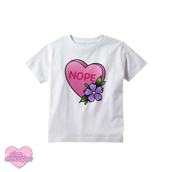 Nope Candy Heart - Kids Tee