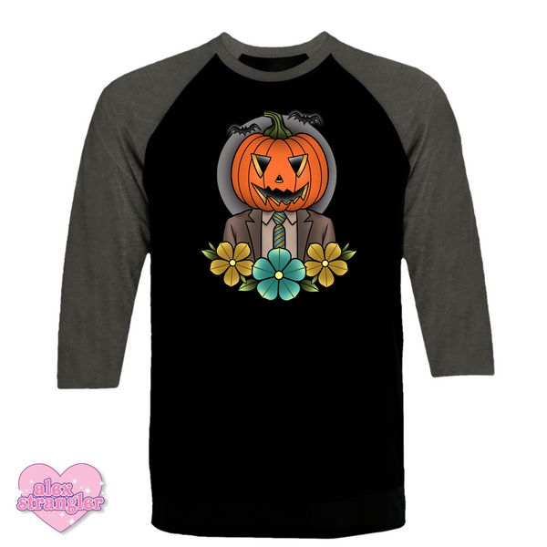 Pumpkin Dwight - Men's/Unisex Raglan