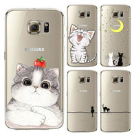 Cat Pattern Samsung Phone Casing