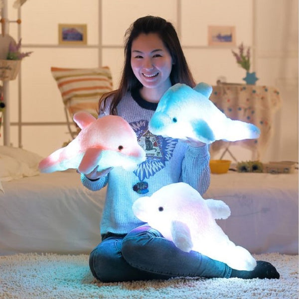 LED Dolphin Pillow Plushie