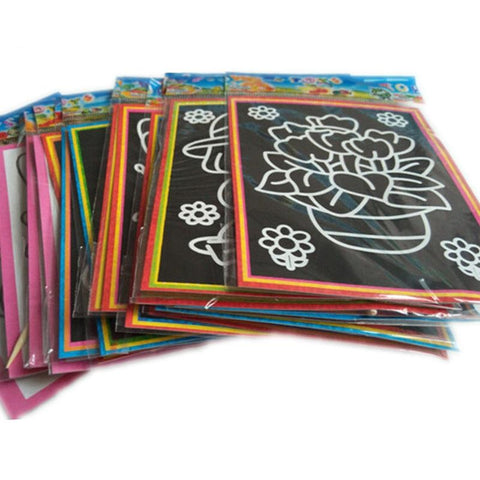 2-in-1 Magic Scratch Art Coloring Cards