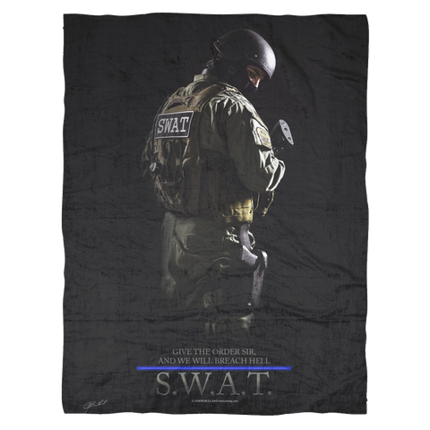 SWAT Team Fleece Blanket