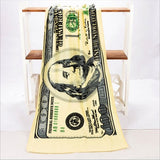Funny Money Microfiber Beach Towel