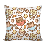 Coffee Cat Pillow Cover