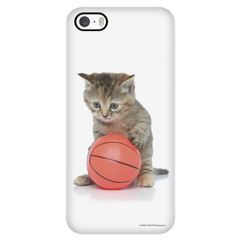 Playful Kitty Apple iPhone Case - My Basketball