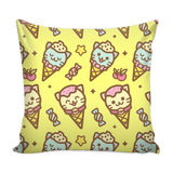 Ice Cream Cat Combo Pillow Cover