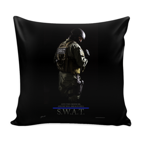 SWAT Team Pillow Cover