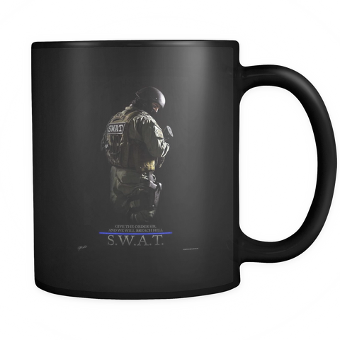 SWAT Team Black Mug