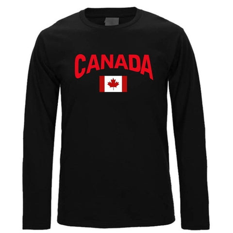 CoolMind Canadian Flag Long Sleeve Shirt