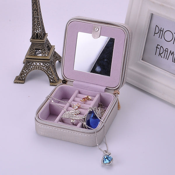 Mini Leather Jewelry Travel Case
