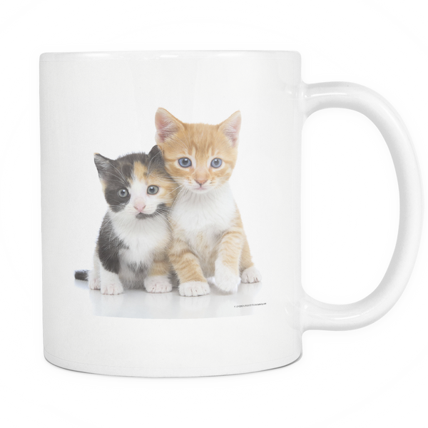 Playful Kitty White Coffee Mug