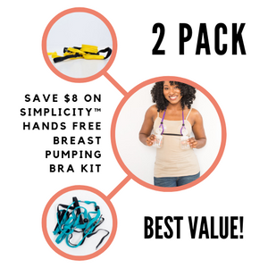 2 PACK of Simplicity™ Hands Free Pumping Bra - LactaMed