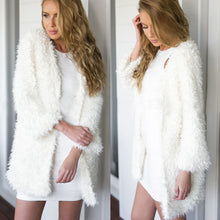 2018 New Style Fashion Women Fluffy Shaggy Faux Fur Cardigan Slim Long Jacket Thick Coat Outwears Parkas