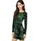 Sexy Women Sequin Dress O Neck 3/4 Sleeve Paillette Bodycon Dress Plunge Back Party Evening Mini Dress Vestido Lentejuelas