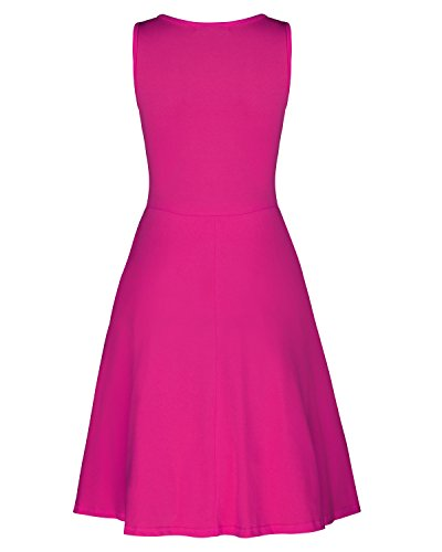 KILIG Women's V Neck Sleeveless Summer Casual Elegant Midi Dress