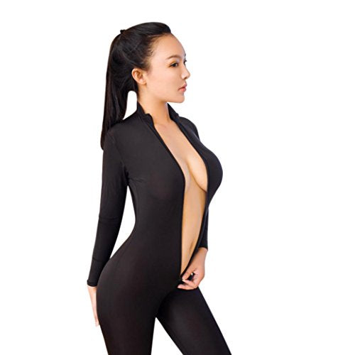 TOOPOOT 2018 Sexy Bodysuit, Women Lingerie Sexy Zipper Long Sleeve Open Crotch Lingerie Jumpsuit